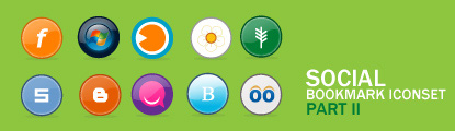 Social Bookmark Iconset: Part II