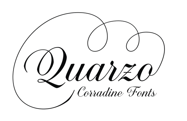 To conclud, Quarzo is a stylish and flexible handwriting font
