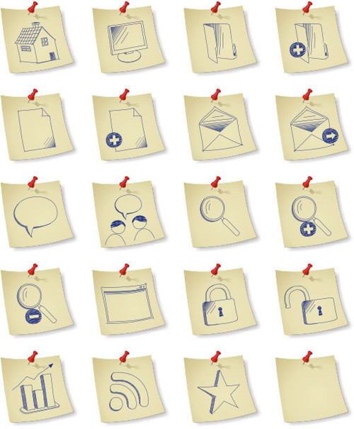Freebies Icons - DryIcons   Free Icons   Sketchy Paper Icon Set