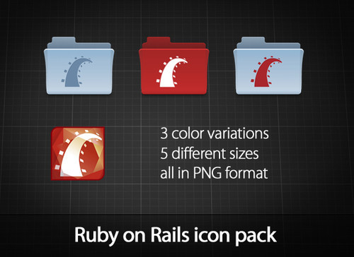 Freebies Icons - Ruby on Rails icon pack by ~azizash