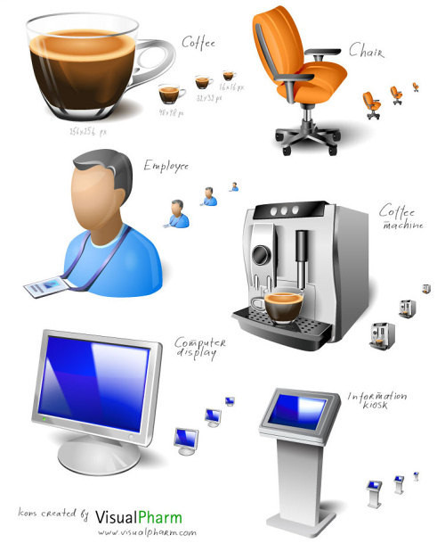 Freebies Icons - Office Space Icon Set