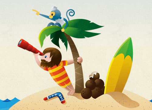 Illustrative Web Design - Characters
