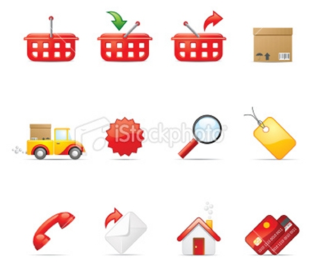 Red Shopping Icons