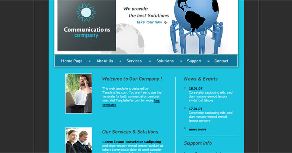 communications-xhtml-css-template