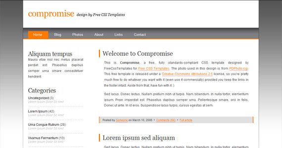 compromise-xhtml-css-template