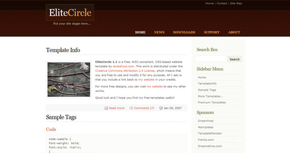 elite-circle-xhtml-css-template