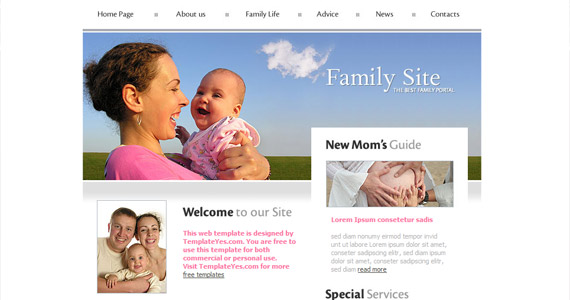 family-site-xhtml-css-template