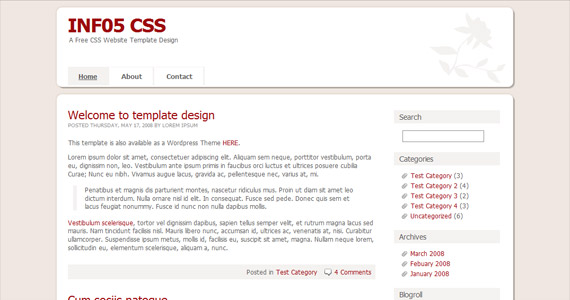 inf05-xhtml-css-template