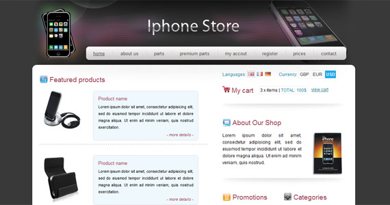 iphone-xhtml-css-template