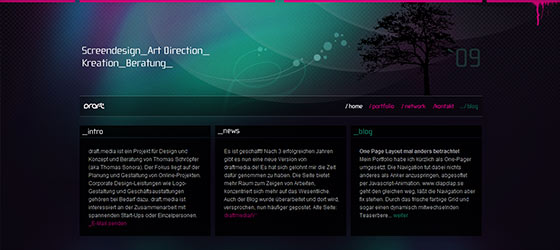 instantShift - Beautiful Single Page Website Designs