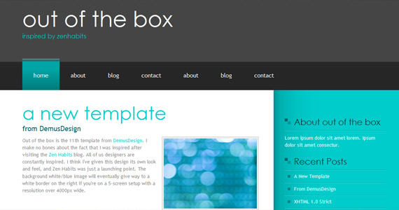 out-of-box-xhtml-css-template