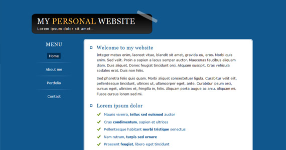 personal-website-xhtml-css-template