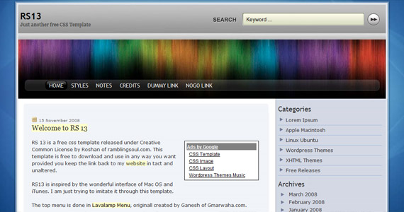 rs-13-xhtml-css-template