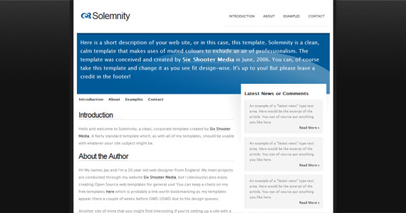 solemnity-xhtml-css-template