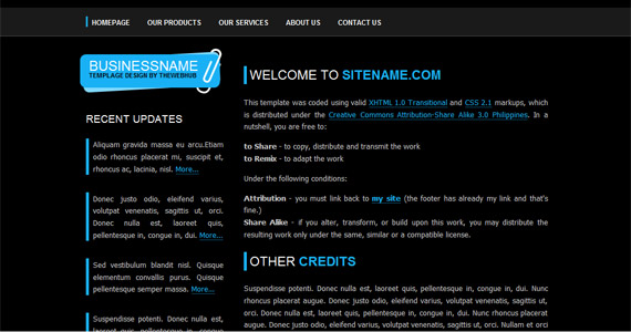 solution-blue-xhtml-css-template