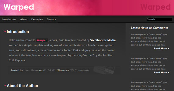 warped-xhtml-css-template