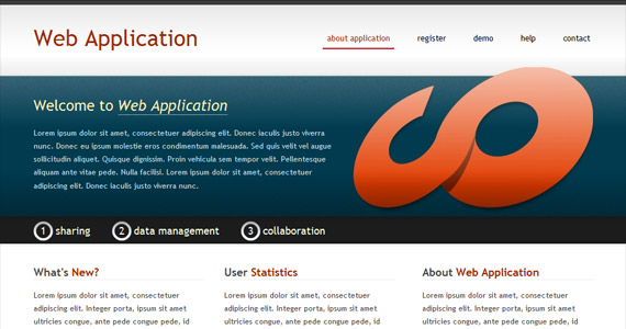 web-application-xhtml-css-template