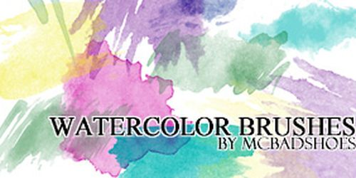 Watercolor Brushes by ~mcbadshoes