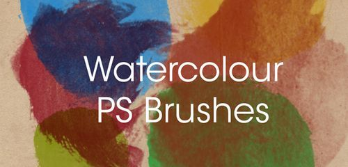 Watercolour Brushes Set 1 by ~fudgegraphics