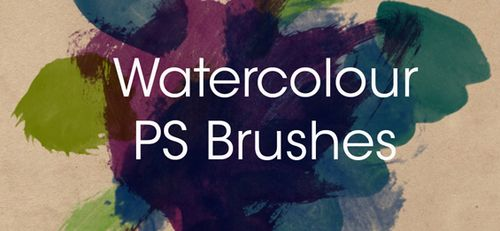 Watercolour Brushes Set 2 by ~fudgegraphics