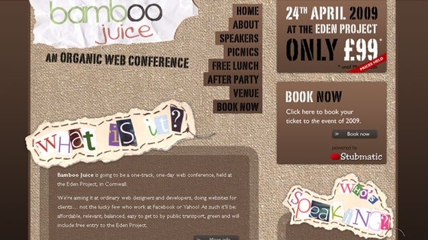 Bamboo Juice - An Organic Web Conference