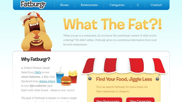 Fatburgr | Nutrition information from your favorite restaurants!