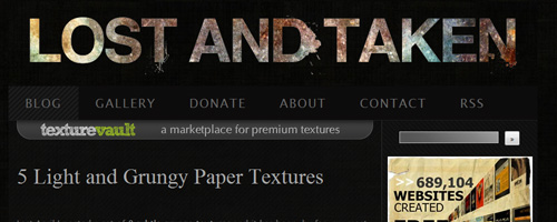 Lost And Taken - Free Texture Resource