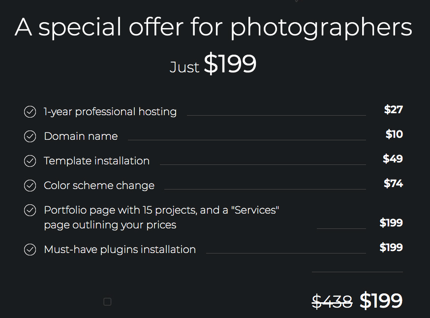 offer for photographers